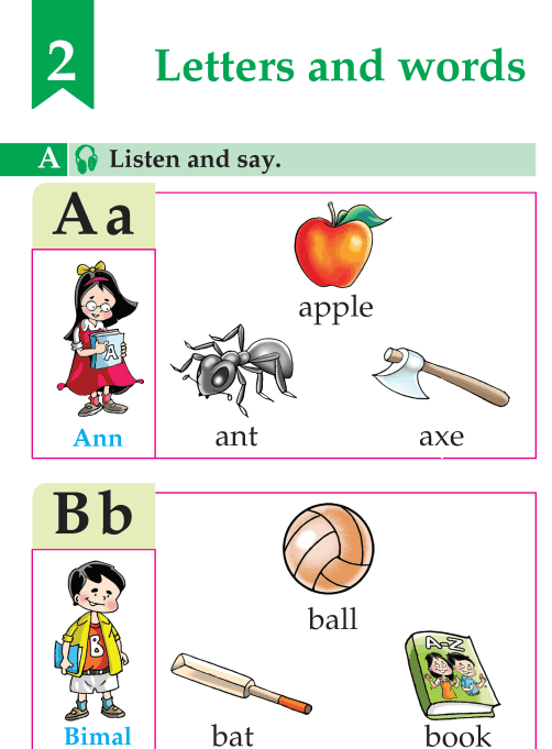 English Lesson Grade A Letters And Words