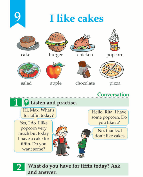 English Lesson Grade 1 I Like Cakes