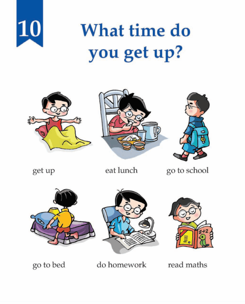 English Lesson Grade 1 What Time Do You Get Up?
