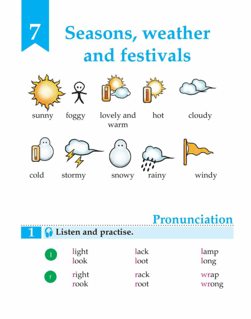 English Lesson Grade 3 Seasons, Weather And Festivals