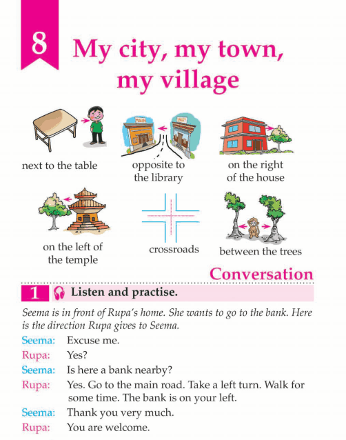 English Lesson Grade 3 My City, My Town, My Village