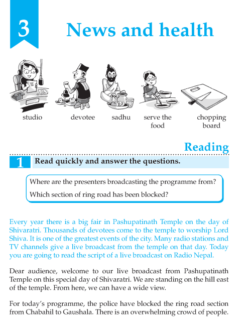 English Lesson Grade 6  News And Health