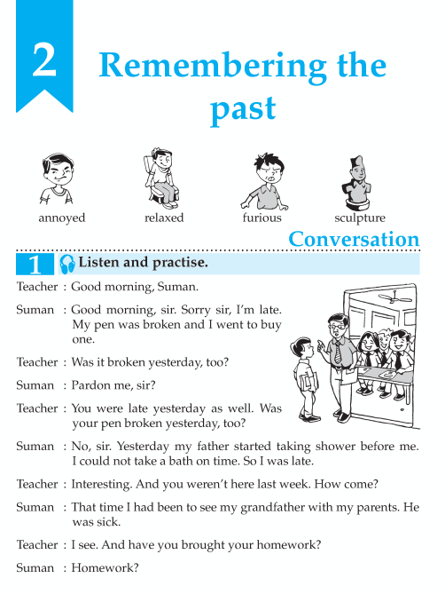English Lesson Grade 7 Remembering The Past