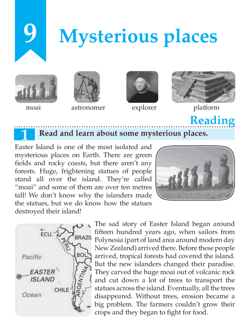 English Lesson Grade 7 Mysterious Places