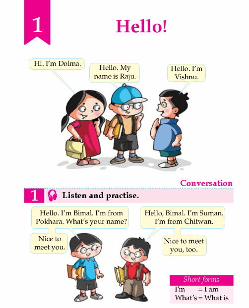English Lesson Grade 2 Hello