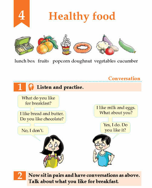 English Lesson Grade 2 Healthy Food