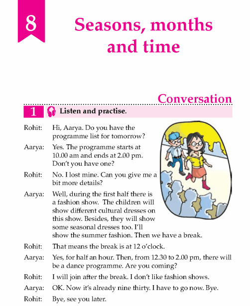English Lesson Grade 5 Seasons, Months And Time