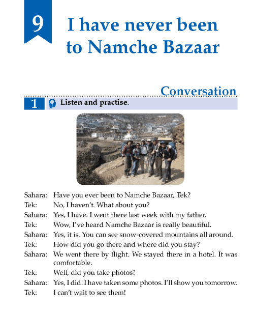 English Lesson Grade 5 I Have Never Been To Namche Bazaar