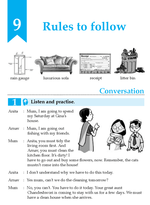 English Lesson Grade 8 Rules To Follow