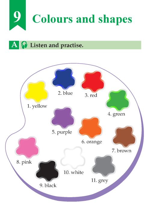 English Lesson Grade B Colours And Shapes